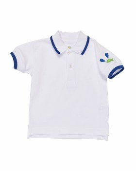 Boys Polo Shirt With Royal Tipping