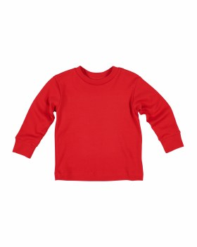 Red Interlock Knit. 100% Cotton