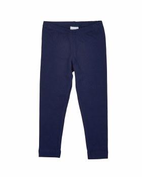 Navy Cotton/Spandex Knit Leggings