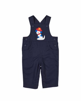 Navy Twill 100% Cotton.  Fire Dog