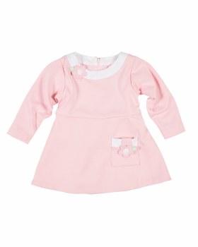 Pink White Ponte Dress, 70% Polyester 25% Viscose 5% Spandex. Flowers