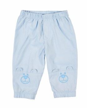 Light Blue Corduroy, 100% Cotton, Applique Bear Faces