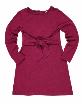 Fuchsia Heather Knit. 100% Polyester