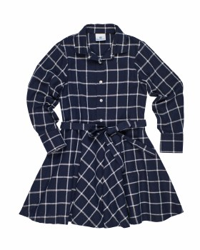 Navy & White Plaid. 50% Cotton 40% Polyester 10% Viscose