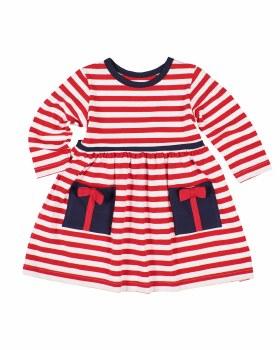 Red & White Knitted Stripe. 97% Cotton 3% Spandex. Present Pckts