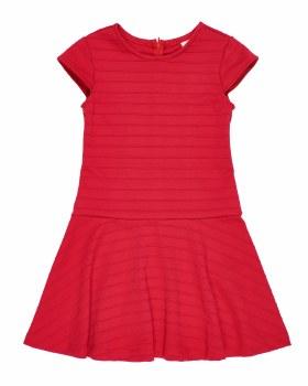Red Stripe Techno Knit. 93% Polyester 7% Spandex