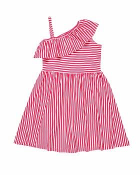 Pink, White Stripe Knit, 50% Cotton 50% Polyester