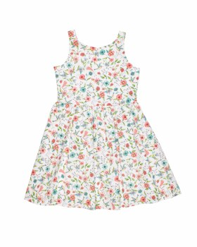 White, Coral, Jade Floral, 100% Cotton, Lined