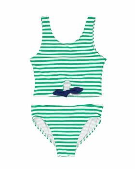 Green White Stripe, 95% Nylon 5% Elastan, Lined