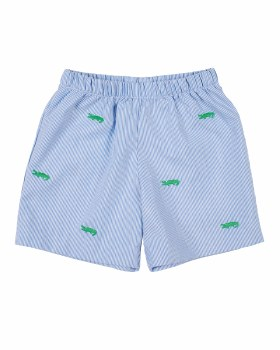 Jr Cord, 75% Polyester 25% Cotton, Embroidered Alligators