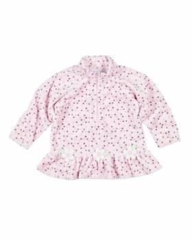 Dot Fleece Top With Flowers