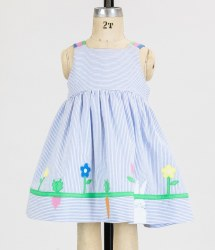 Dress With Bunny And Flowers