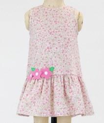 Floral Knit Dress Wth Applique Flowers