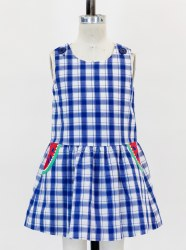 Plaid Dress With Watermelon Pockets