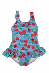 Girls Cherry Print Swimsuit