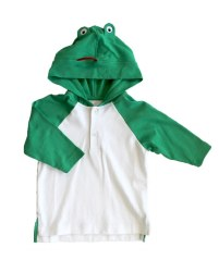 Knit Coverup With Frog Hood