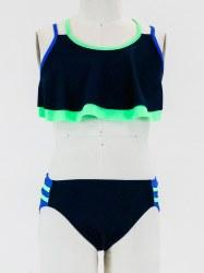 Color Block Flutter Bikini