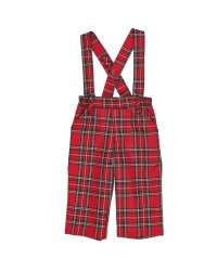 Red & Black Plaid. 65% Poly 35% Viscose Removable Suspenders