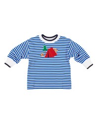 Royal Stripe Interlock Shirt, 50% Cotton 50% Polyester,  Camping Bear