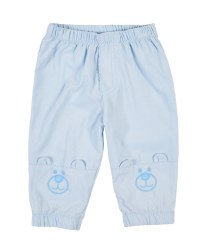 Light Blue Corduroy, 100% Cotton, Applique Bear Faces