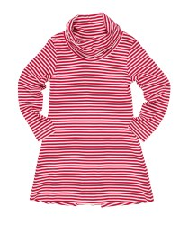 Cerise  White Stripe Knit.  50% Cotton 50% Polyester