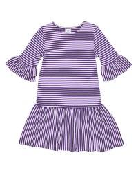 Purple  White Stripe Knit. 50% Cotton 50% Polyester
