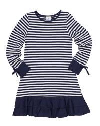 Navy & White Stripe Knit.  97% Cotton 3% Spandex