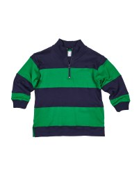 Navy & Green Interlock Knit. 100% Cotton