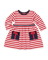 Red & White Knitted Stripe. 97% Cotton 3% Spandex. Present Pckts