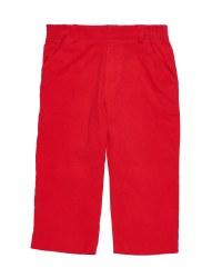 Red Corduroy.  100% Cotton