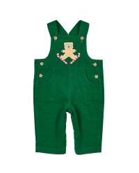 Green Corduroy.  100% Cotton.  Ski Bear