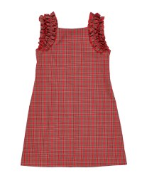 Red & Black Plaid.  100% Cotton.  Lined