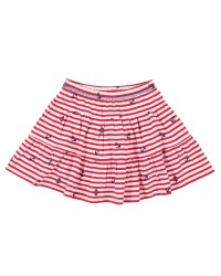 Red, White Stripe Anchor Print, Skort