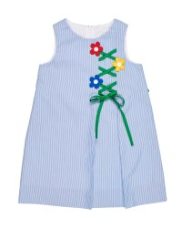 Blue Junior Cord, 75% Polyester 25% Cotton, Flower Trellis, Lined