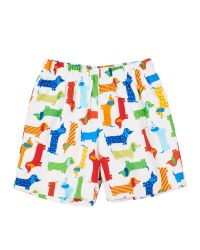 White, Multi Dog Print, 100% Cotton, Lined