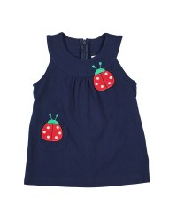 Navy Knit Jumper With Ladybugs