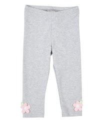 Leggings With Applique Flowers