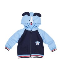 French Terry Hoodie With Dog Hood And Applique