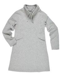 Polka Dot Sweatshirt Dress With Pockets