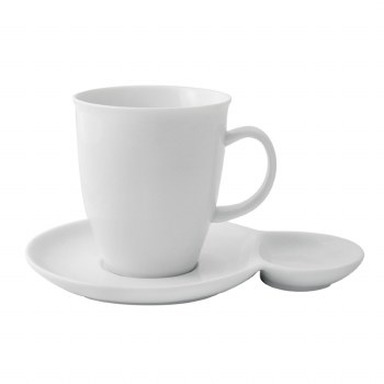 White Mug  with Saucer Set