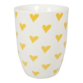 Yellow Hearts Mug