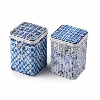 Indigo Diamonds Tea Tin