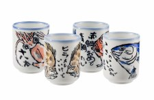 Sea mug set of 4