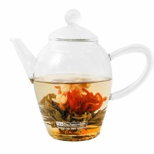 Flowering Glass Teapot