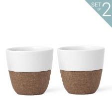 Cortica Porcelain/Cork Mug set