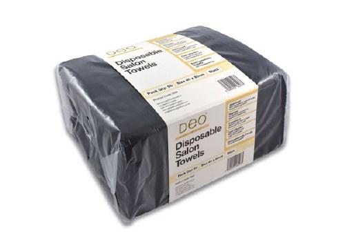 Deo Dis Towels Blk 50pk