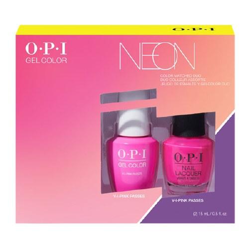 OPI Neon Duo Gel/Lac Duo Pink
