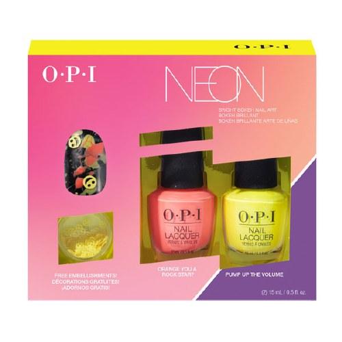 OPI Neon Duo Nail Art Orange