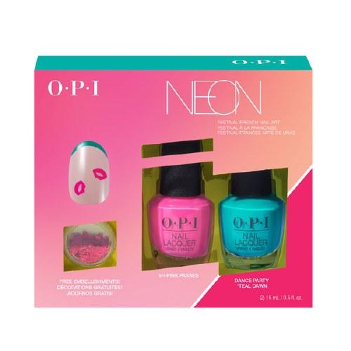 OPI Neon Duo Nail Art Teal