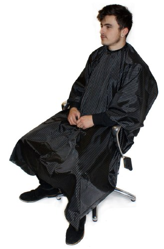 HT Pinstripe Barber Gown